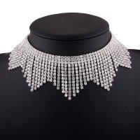 N1855 - Tassel diamond necklace