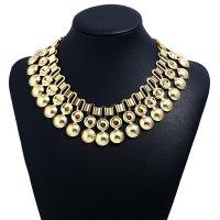 N1862 - Creative metal texture short necklace