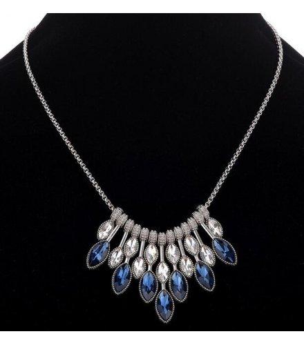 N1868 - Gemstone pendant temperament necklace