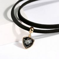 N1891 - Double Crystal Pendant Necklace