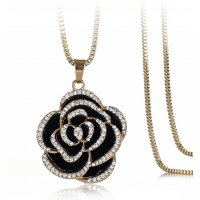 N1894 - Diamond rose sweater chain