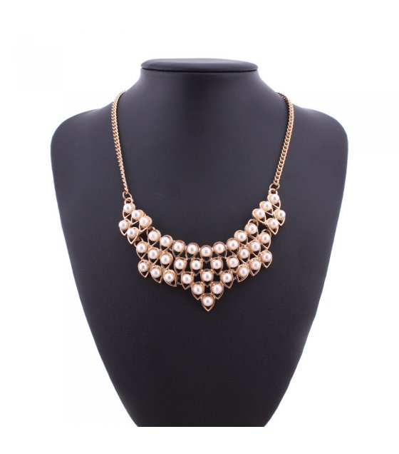 N1909 - Mosaic drop-shaped Necklace