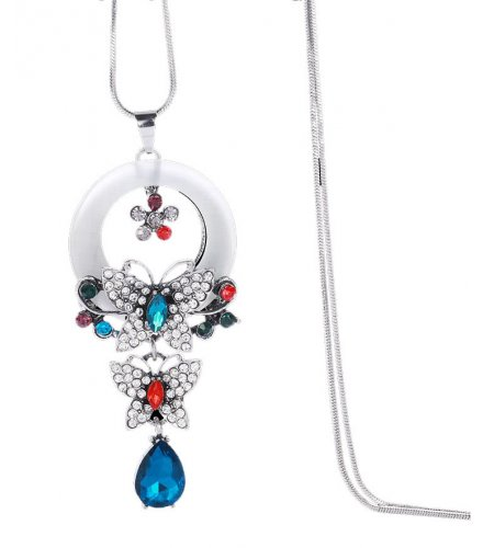 N1914 - Butterfly alloy necklace