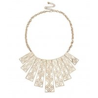 N1919 - Simple texture hollow geometric Necklace