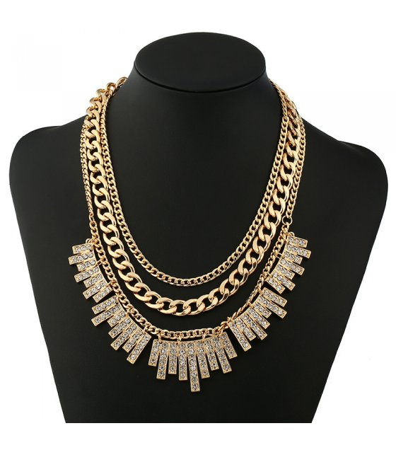 N1921 - Geometric exaggerated Necklace