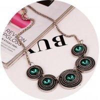 N1923 - Retro short decorative necklace
