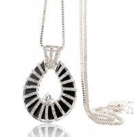 N1924 - Fashion teardrop-shaped diamond sweater chain