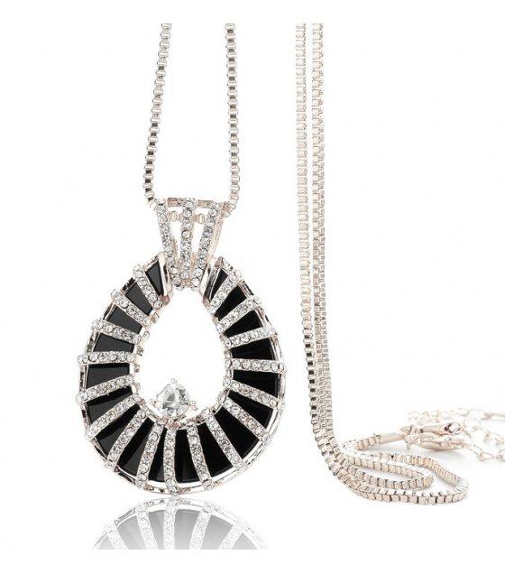 N1924 - Fashion teardrop-shaped diamond sweater chain