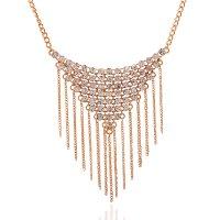 N1939 - Diamond tassel Necklace