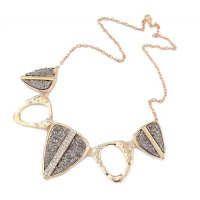 N1950 - Hollow geometric exaggerated necklace