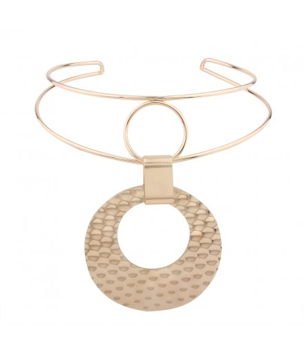 N1956 - Geometric Round Necklace