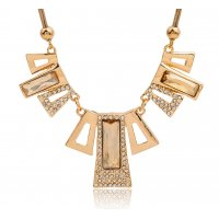 N1962 - Clavicle chain crystal necklace