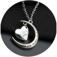 N1970 - I love you moon necklace