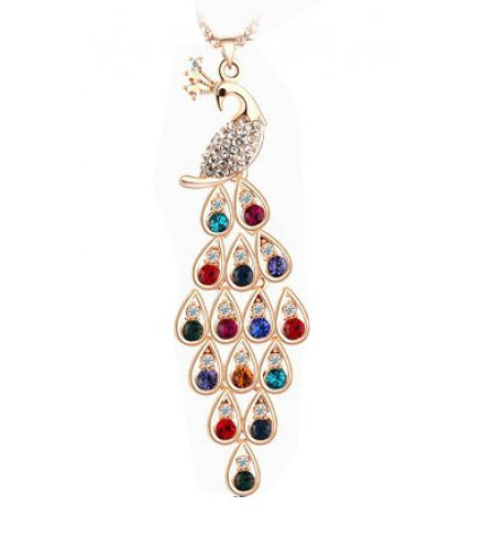 N1972 - Exquisite peacock long necklace