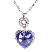 N1978 - Love heart crystal necklace