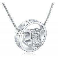 N1979 - Austrian Crystal Love Heart Necklace
