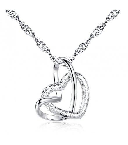 N1980 - Double heart pendant necklace