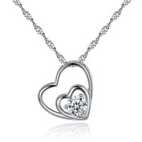 N1981 - Hearts zircon necklace