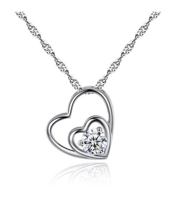 N1981 - Hearts zircon necklace