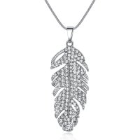N1985 - Fashion Elegant Women's Crystal Leaf Necklace