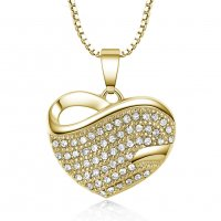 N1987 - Heart Rhinestone Necklace