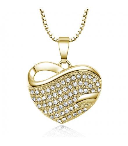 N1987 - Heart Rhinestone Necklace