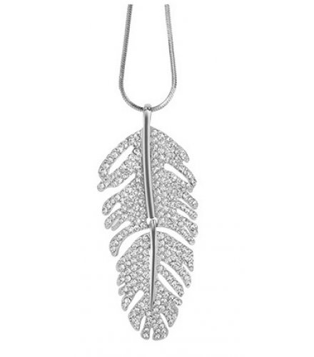 N2008 - Feather long atmospheric sweater chain