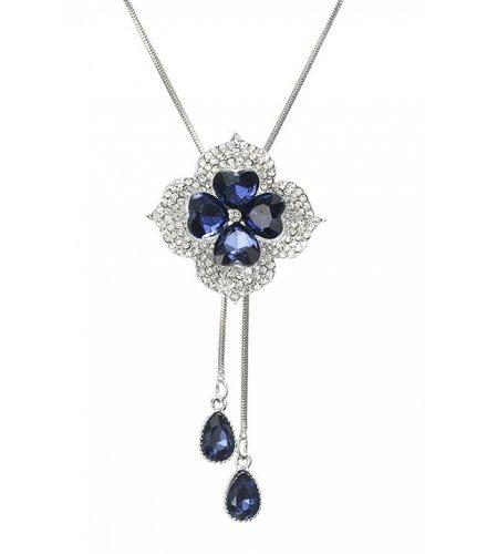 N2022 - Gem flower crystal Necklace