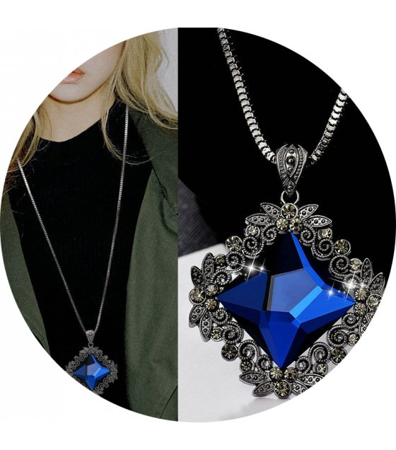 N2029 - Blue Gemstone Necklace