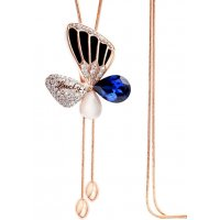 N2031 - Crystal Butterfly Necklace