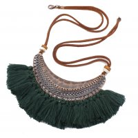 N2046 - Fringed necklace