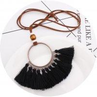 N2049 - Bohemian Fringe necklace