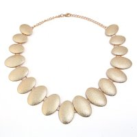 N2054 - Retro Oval Necklace