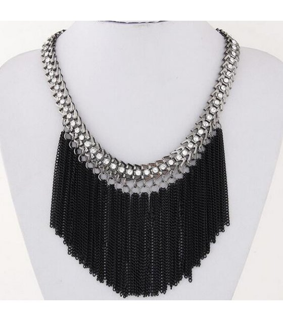 N2058 - Alloy Tassel Necklace
