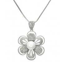 N2082 - Korean fashion diamond flower Necklace