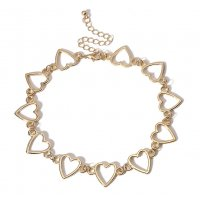 N2084 - Geometric simple hollow Necklace