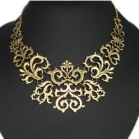 N2085 - Retro sweater chain clavicle necklace