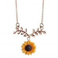 N2098 - Sunflower leaves necklace