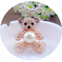N2101 - Pearl bear Korean sweater chain