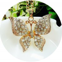 N2102 - Diamond butterfly sweater chain