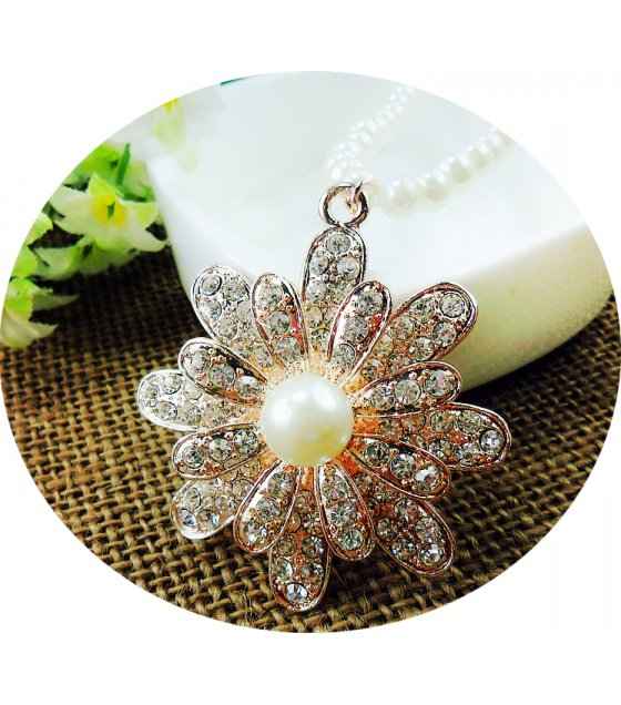N2108 - Korean temperament wreath pearl sweater chain