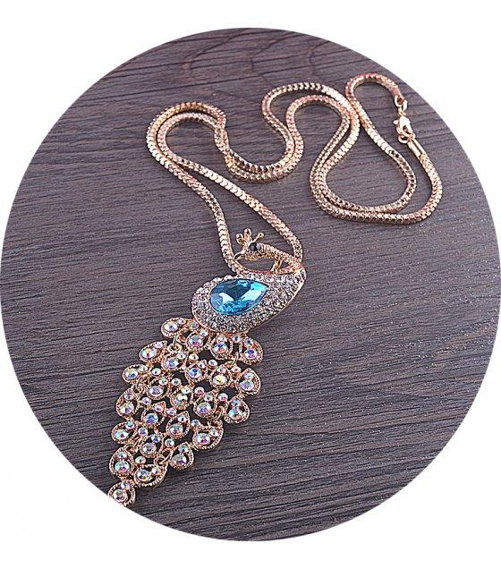 N2111 - Crystal peacock sweater chain
