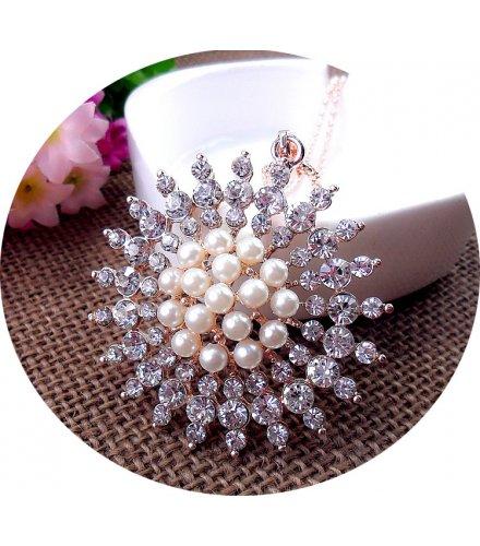 N2114 - Pearl sun flower Sweater chain