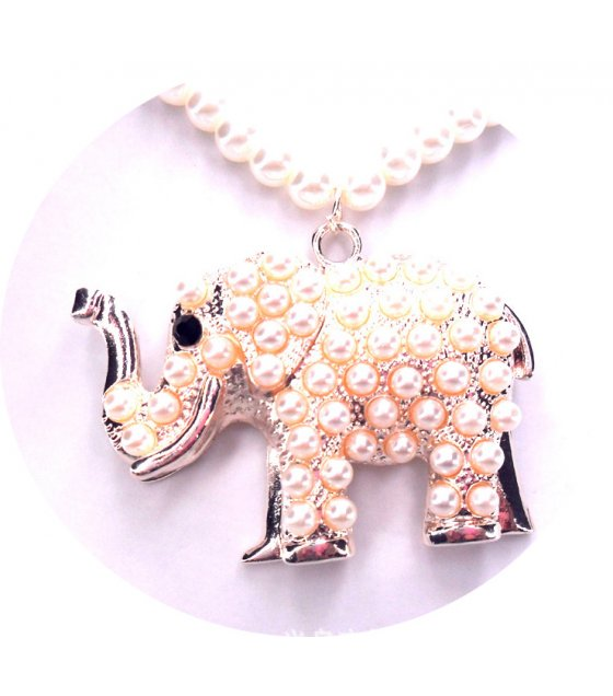 N2116 - Elephant full of pearls sweater chain