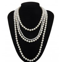 N2118 - Pearl Stone Necklace