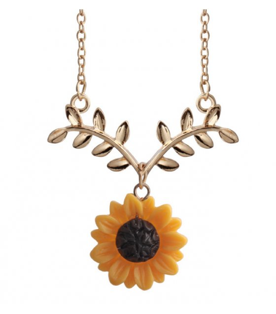 N2120 - Sunflower Necklace Pendant