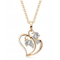 N2124 - Heart-shaped pendant Necklace