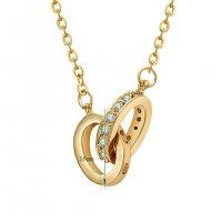 N2127 - Interlocking figure-shaped pendant Necklace