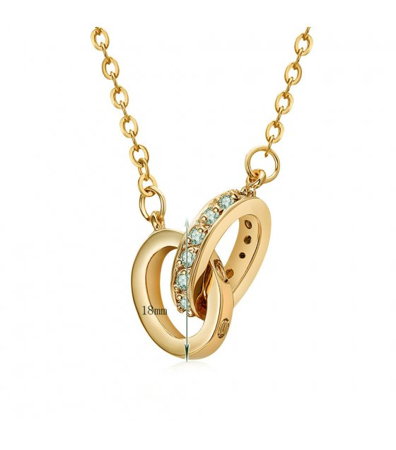 N2127 - Interlocking figure-shaped pendant Necklace