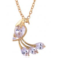 N2128 - Zircon Peacock Necklace